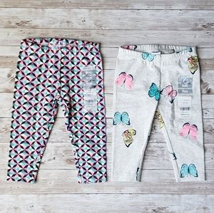 Carters Butterfly and Geometric Print Leggings